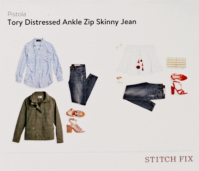 stitch fix Pistola Tory Distressed Ankle Zip Skinny Jean style card