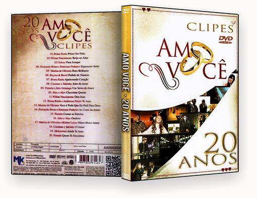 Amo Voce Clipes 20 Anos DVD-R AUTORADO