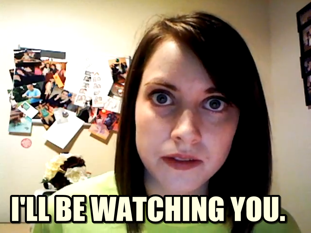 creepy stalker girl MEMES