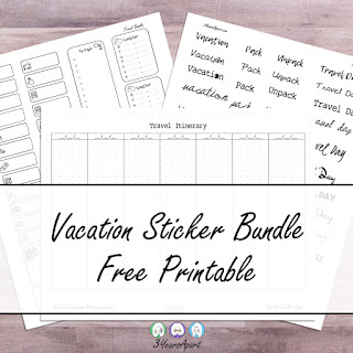 3 Years Apart Vacation Sticker Bundle Free Printable