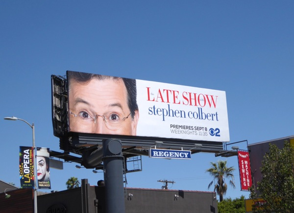 Late Show Stephen Colbert series premiere billboard