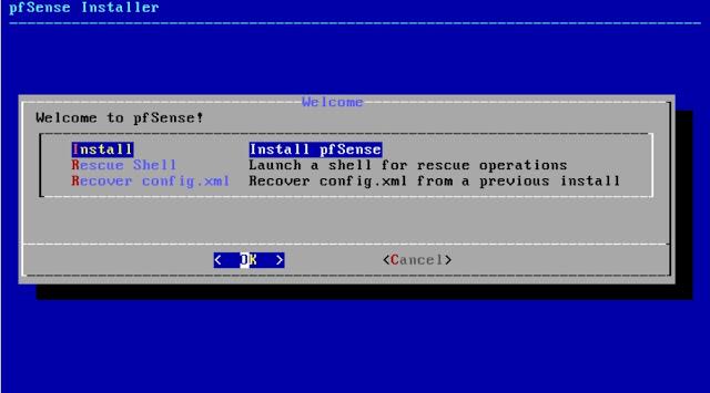 Hướng dẫn cài đặt pfsense cho pc modem - pc router