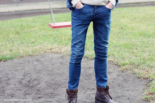 proste męskie jeansy