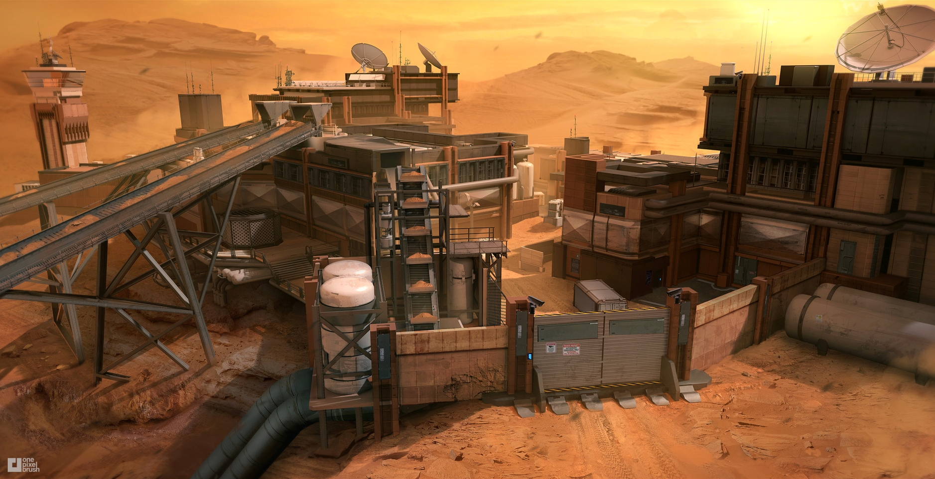 """human Mars: Concept art of Mars for """"Call of Duty ..."""