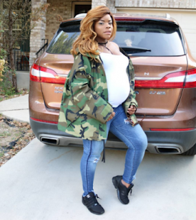 Laura Ikeji jets out to the US to have her baby