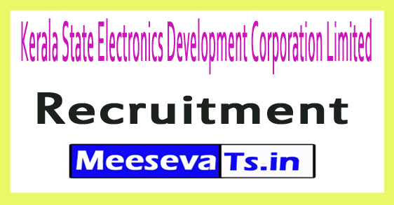 Kerala State Electronics Development Corporation Limited KELTRON Recruitment