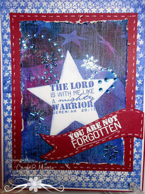 ODBD Not Forgotten, ODBD Old Flag Background, ODBD Custom Sparkling Stars Dies, Card Designer CraftE.Marie