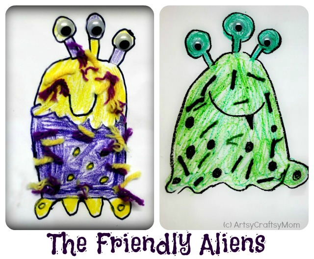 How to draw an alien
