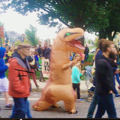 T Rex Marches in PRONK2018