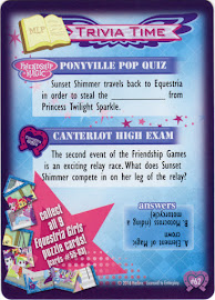 MLP Equestria Girls Puzzle, Part 8 Equestrian Friends Trading Card