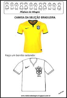 Camisa seleção brasileira colorir