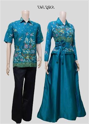 Model Gamis Batik Couple Anak Muda