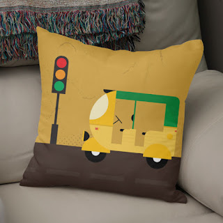 tuk tuk, rickshaw ,three wheeler, india, pillows,