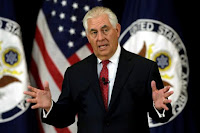 U.S. Secretary of State Rex Tillerson delivers remarks to the employees at the State Department in Washington, U.S., May 3, 2017. (Credit: Reuters/Yuri Gripas/File Photo) Click to Enlarge.