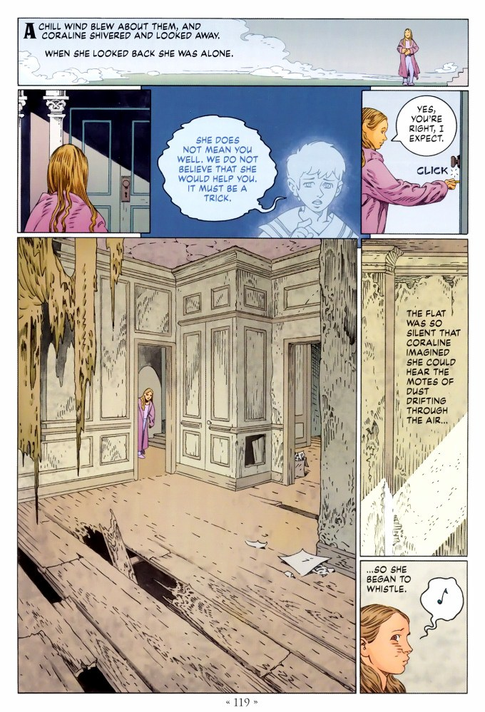 Read page 119, from Nail Gaiman and P. Craig Russell's Coraline graphic novel