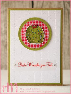 Stampin' Up! rosa Mädchen Kulmbach: Weihnachtskarten mit Christmas Sweaters, Adventsgrün und besonderem Designerpapier Eisfantasie
