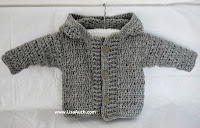 Free Crochet Pattern for Hooded Cardigan-Free baby Crochet Patterns