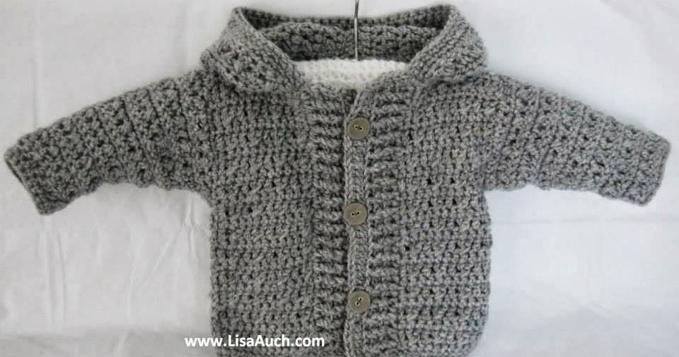 Crochet Baby Boy Cardigan Pattern With Hood Easy Hooded