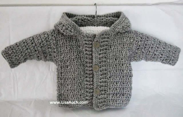 free crochet patterns- free crochet baby patterns--crochet-hooded cardigan crochet pattern--cardigan- sweater-pattern-free