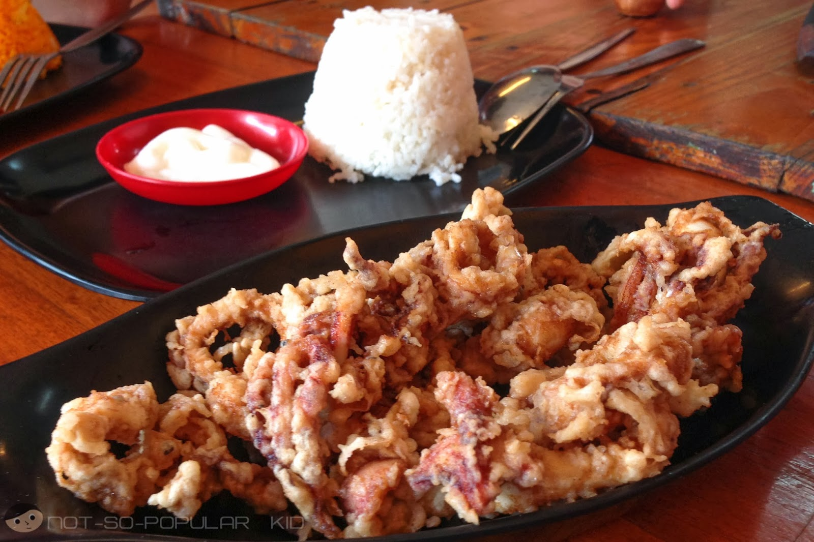 A hefty serving of calamares in Toto's Eatery