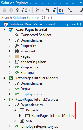 add project reference in asp.net core