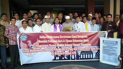 Jelang Pilkada, FKUB NTB Gelar Deklarasi