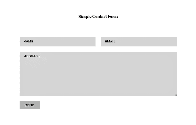 blogger contact form, contact form html, freelance blogger, website contact form