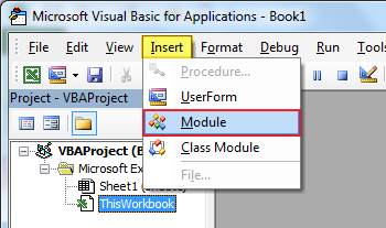 Memasukkan Module VBA Excel