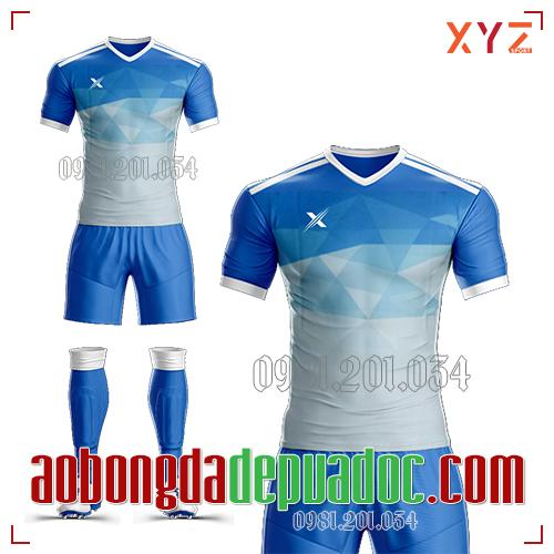 Áo Ko Logo XYZ-01 Màu Xanh Nhạt