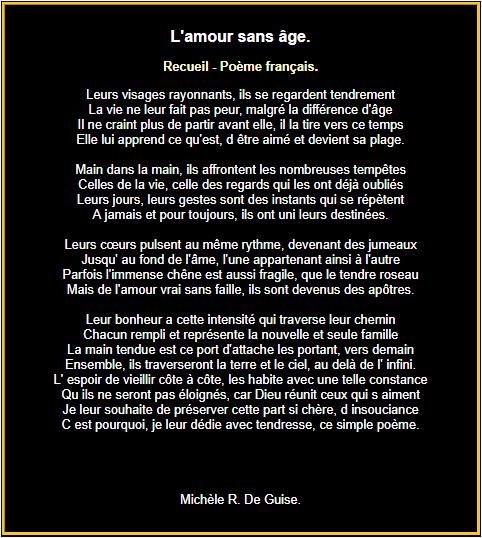 Poème : L'amour sans age