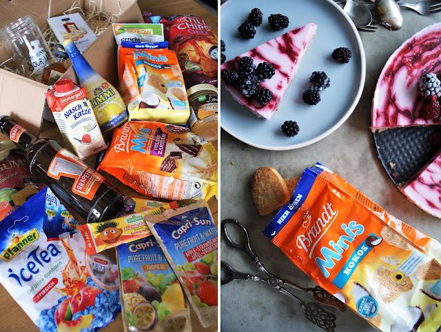 Himbeer-Joghurt Kuchen // nobake // Degustabox Juli 2017
