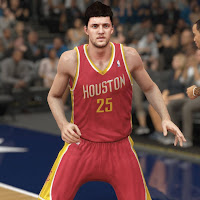 Rocket's Chandler Parsons in NBA 2k14