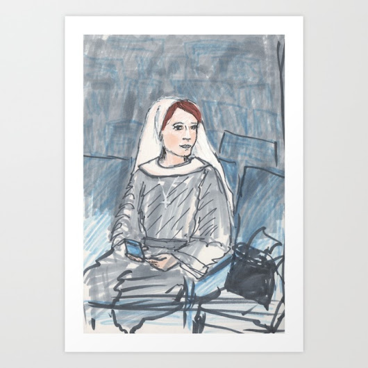 tales from the little pink house: nun drawings now on my society6 page