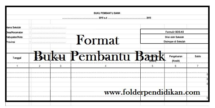 Format Buku Pembantu Bank