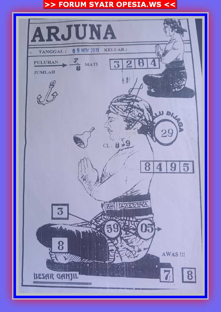 Kode syair Hongkong Sabtu 9 November 2019 32