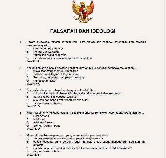 Contoh Soal Cpns Falsafah Dan Ideologi