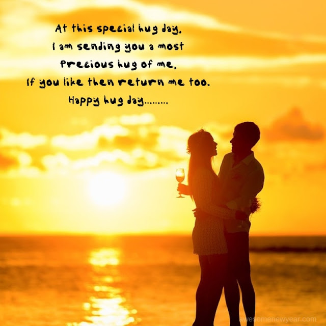Happy Hug Day Wishes for wife
