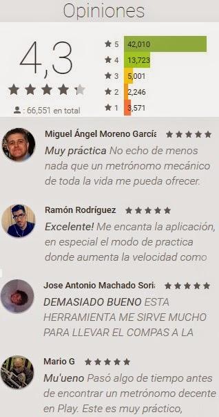 opiniones metronomo para Android Stonekick