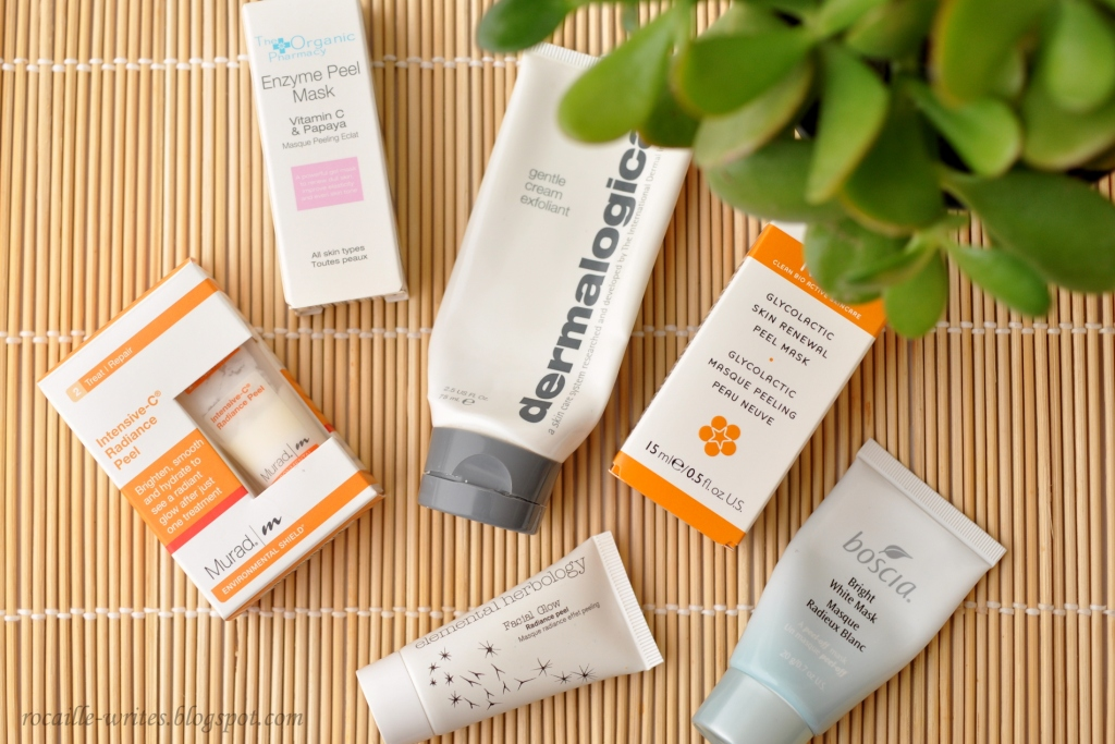In My Skincare Stash: Overview of Brightening and Exfoliating Masks and Peels