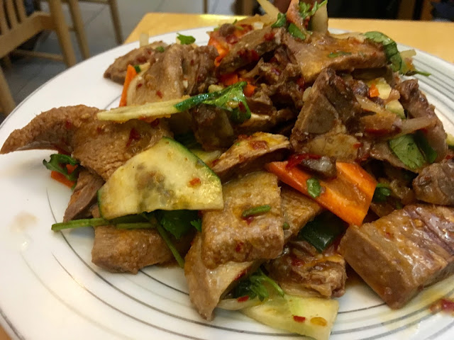 Uyghur Beef Tongue Salad at Dolan Uyghur Food Heaven