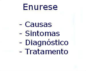 Enurese causas sintomas diagnóstico tratamento prevenção riscos complicações