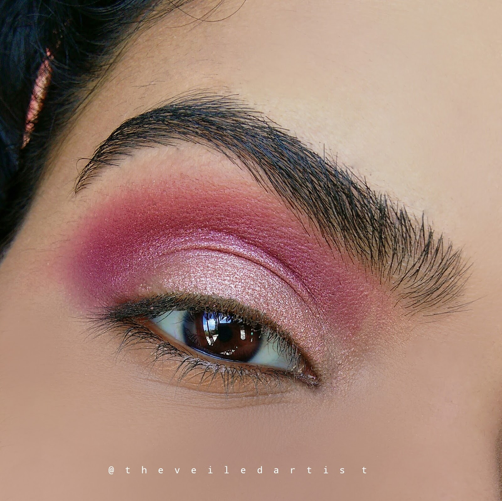 Romantic Shimmery Pink And Burgundy Smokey Eyes Tutorial Fall Makeup Part 3 The Veiled Artist