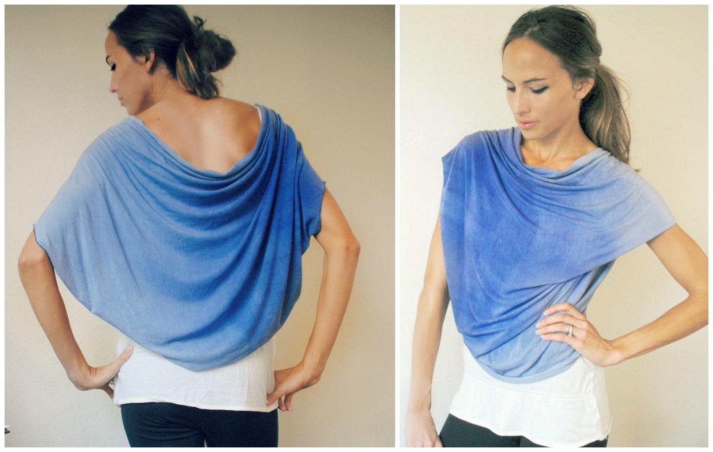 Trash To Couture: DIY Convertible Shawl/Shrug