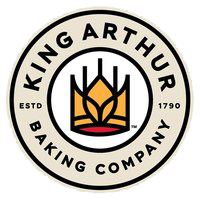 King Arthur's digital-first logo features a bold wheat crown