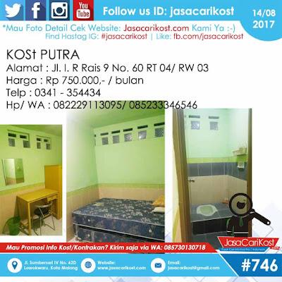 Kost Putra Jl Rais Malang #117