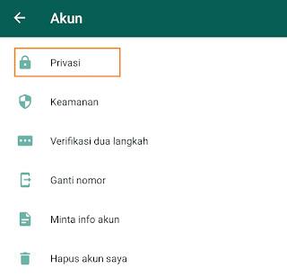Cara agar whatsapp tidak ada Status Online
