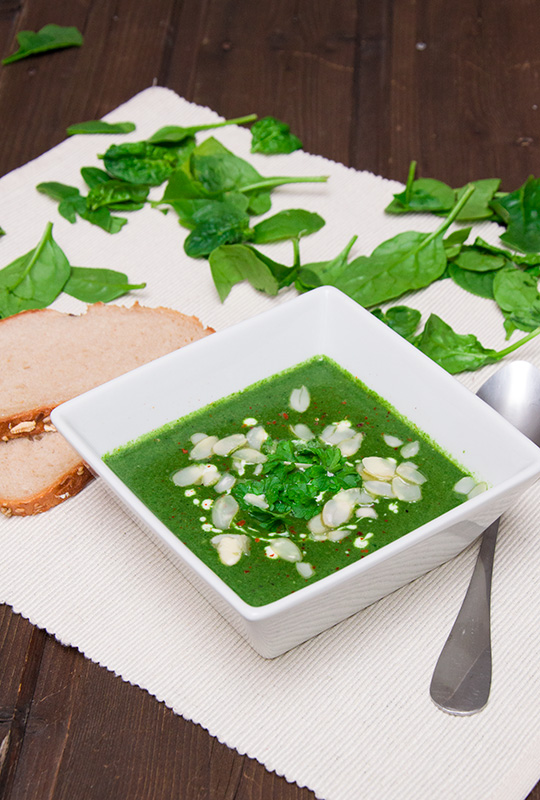 Rezept Spinatsuppe vegan und einfach