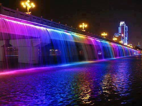 Đèn led dây trang trí công trình trên nước