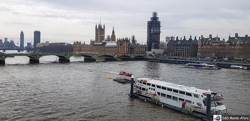 Rio Tãmisa visto da London Eye: como visitar a roda-gigante de Londres