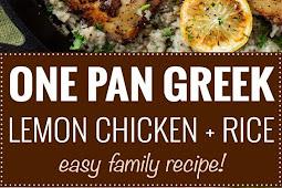 ONE PAN GREEK LEMON CHICKEN AND RICE